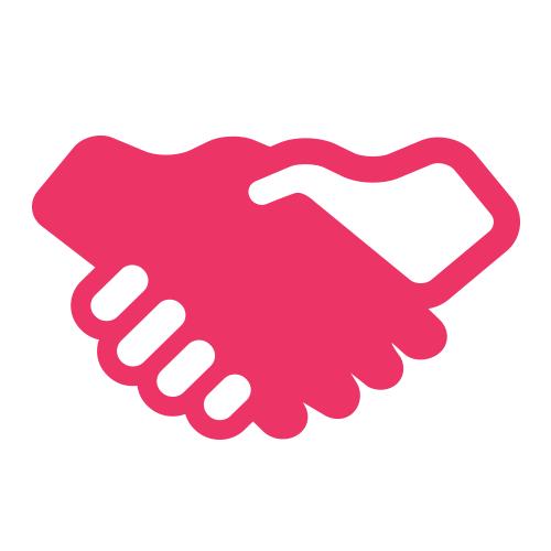 Technology consulting firm Chicago, handshake icon
