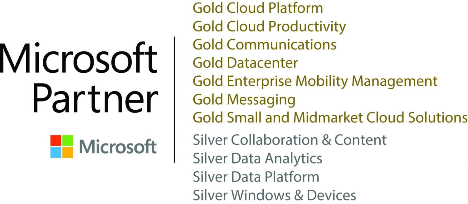 "Microsoft Partner ""Best-in-Class"" Gold and Silver Competencies"