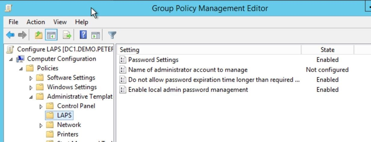 Manage Windows Local Administrator Passwords with LAPS - Peters