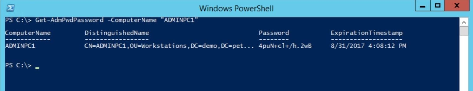Manage Windows Local Administrator Passwords with LAPS