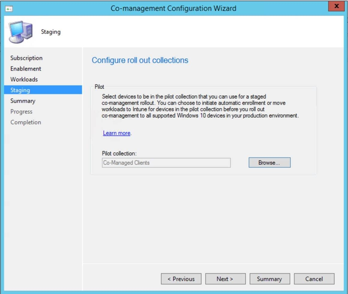 System Center Configuration Manager Intune Co-management for